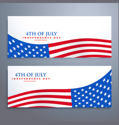 4th of july flag banners vector image