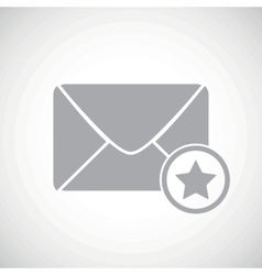 Grey favorite letter icon vector