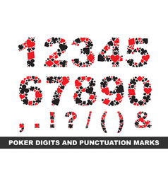poker digits vector image