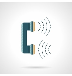 Flat phone handset icon vector