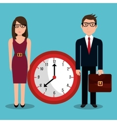 Time management design vector