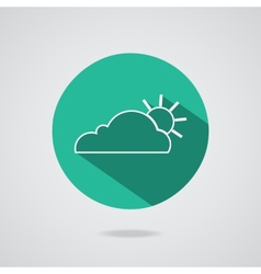 abstract cloud icon Teal button vector image vector image
