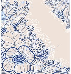 abstract hand drawn floral background vector image