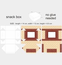 Brown snack box 12x14x65cm vector