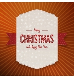 Christmas realistic big banner with red ribbon vector