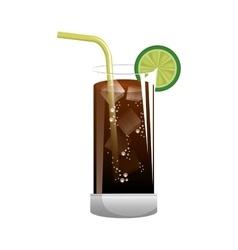 Cocktail liquor drink vector