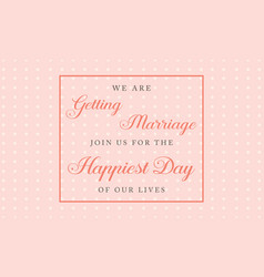 Collection wedding style greeting card vector