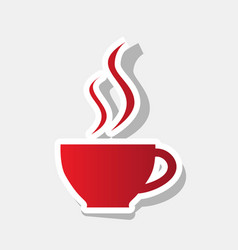 cup of coffee sign new year reddish icon vector image vector image