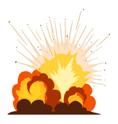 Fire explosion icon cartoon style vector