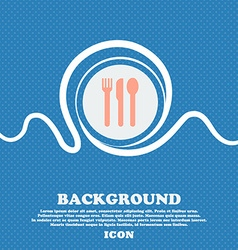 fork knife spoon sign icon Blue and white abstract vector image vector image