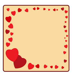 frame of red heart card vector image vector image