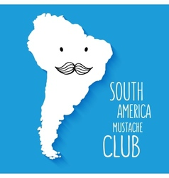 Fun mustache club cartoon South America hand drawn vector image