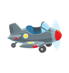 Funny retro plane vector
