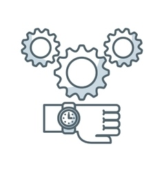 gear settings isolated icon vector image
