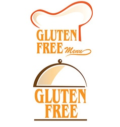 Gluten free symbol set isolated on white vector