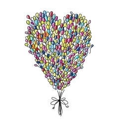 Holiday balloons heart shape for your design vector image vector image