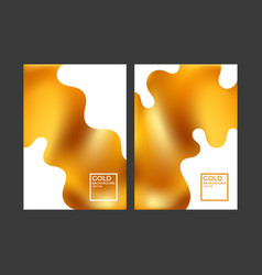 Modern gold covers vector