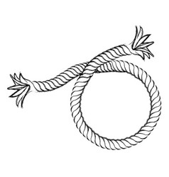 Monochrome contour hand drawing of nautical break vector
