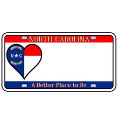 North carolina license plate vector