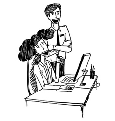 office conversation 2 vector image