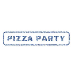 Pizza party textile stamp vector