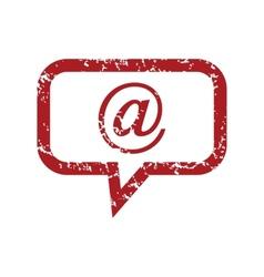 Red grunge mail logo vector