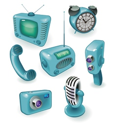 Retro devices vector image