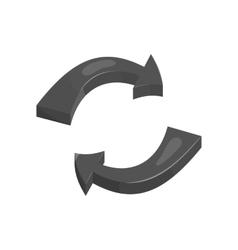 Rotation arrows icon black monochrome style vector