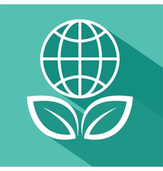 save the planet flat design vector image vector image