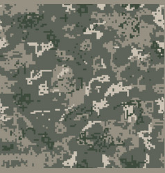 seamless khaki camouflage of pixel pattern vector image