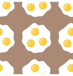 Seamless pattern with fried eggs background of vector