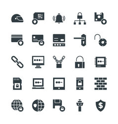 Security Cool Icons 3 vector image
