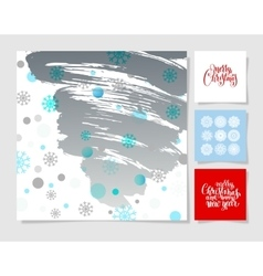 Set of christmas decoration background snowflake vector