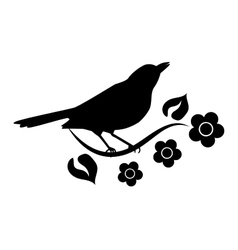 Silhouette of bird vector image vector image