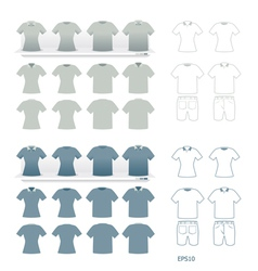 t-shirts fashion set vector image vector image