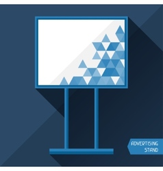 Template of advertising stand vector image vector image