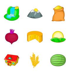Thorp icons set cartoon style vector