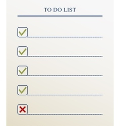 To do list with check mark format vector image