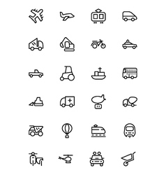 Transport Line Icons 2 vector image vector image
