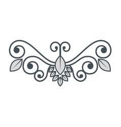 vintage swirl decoration vector image vector image