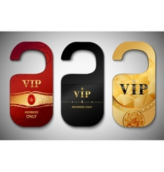 Vip door tags set vector image vector image