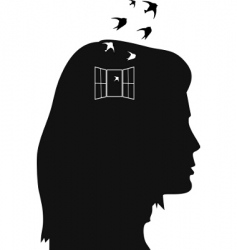 woman's head vector image