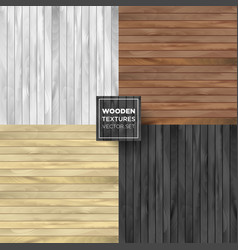 Wooden set of different color collection vector