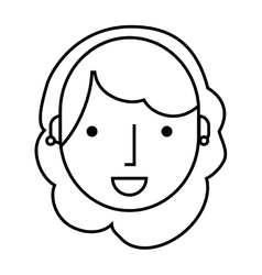 young woman isolated icon vector image