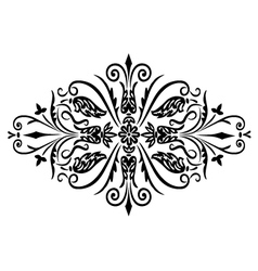rombus flower ornament vector image