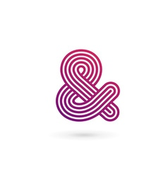 Symbol and ampersand logo icon design template vector