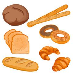 Brown tommy sliced bread long loaf vector
