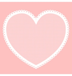 Lacy heart vector