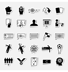 Soccer sticker icons set vector
