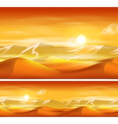 Deserts and sandstorms vector